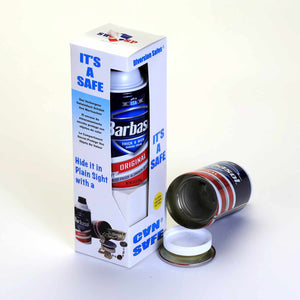 Barbasol Shaving Cream Concealment Diversion Safe Stash Safe - Concealment Cans Hidden Safe