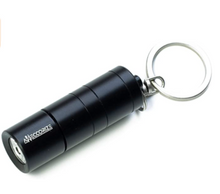 Load image into Gallery viewer, Black Flashlight Keychain Secret Hidden Safe Diversion Stash Safe - Concealment Cans Hidden Safe