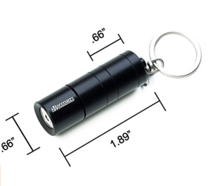 Black Flashlight Keychain Secret Hidden Safe Diversion Stash Safe - Concealment Cans Hidden Safe