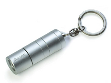 Load image into Gallery viewer, Silver Flashlight Keychain Hidden Safe Diversion Stash Safe - Concealment Cans Hidden Safe