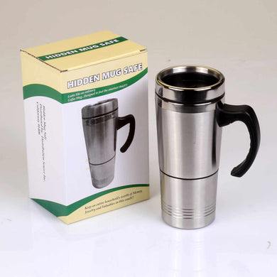 Travel Coffee Mug Stainless Steel Concealment Diversion Safe Stash Safe - Concealment Cans