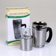 Load image into Gallery viewer, Travel Coffee Mug Yellow Plastic Concealment Diversion Safe Stash Safe - Concealment Cans Hidden Safe