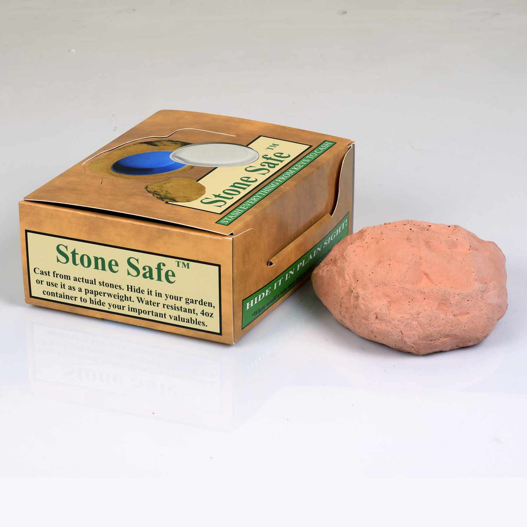 Hidden Outdoor Key Safe - (Pink-ish) Rock to Hide House Key - Concealment Cans Hidden Safe