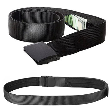 Hidden Nylon Travel Belt Secret Wallet Money Diversion Stash Safe - Concealment Cans