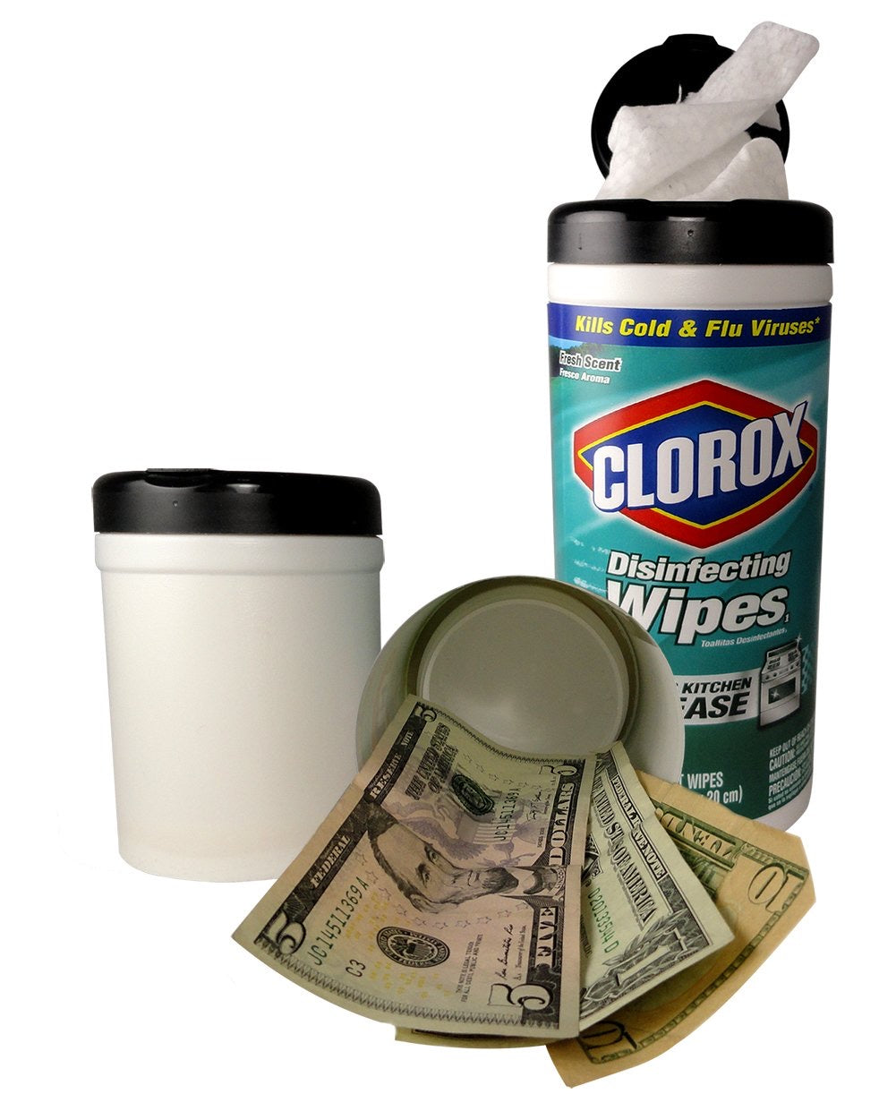 Clorox Disinfectant Wipes (Wipes Included) Concealment Can Home Diversion Safe Stash Can - Concealment Cans