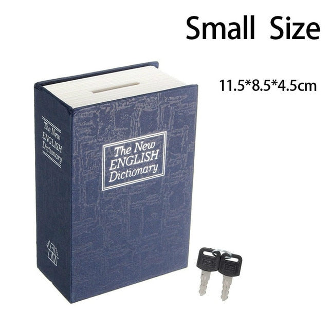 Book Safe With Key Lock Hidden Concealment Diversion Safe Stash Safe - Concealment Cans Hidden Safe