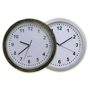 Wall Clock Concealment Hidden Diversion Safe (Bronze or Silver) - Concealment Cans Hidden Safe