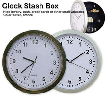 Load image into Gallery viewer, Wall Clock Concealment Hidden Diversion Safe (Bronze or Silver) - Concealment Cans