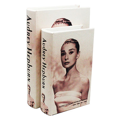 Book Safe Audrey Hepburn Hollow Book Fake Book Box Stash Book M or L - Concealment Cans