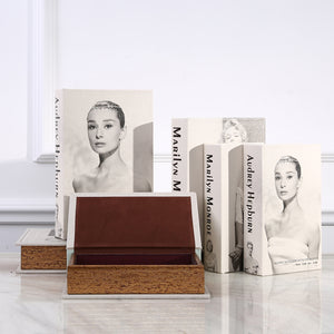 Book Safe Audrey Hepburn Hollow Book Fake Book Box Stash Book M or L - Concealment Cans Hidden Safe