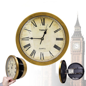 The Classic Style Concealment Wall Clock Secret Diversion Stash Safe for your Money and Jewelry Discreetly Stored - Concealment Cans Hidden Safe