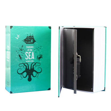 Book Safe Diversion Safe Lock and Key Stash Safe Creatures of the Sea - Concealment Cans