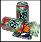 V8 Vegetable Juice Diversion Can Concealment Can Diversion Stash Safe - Concealment Cans Hidden Safe