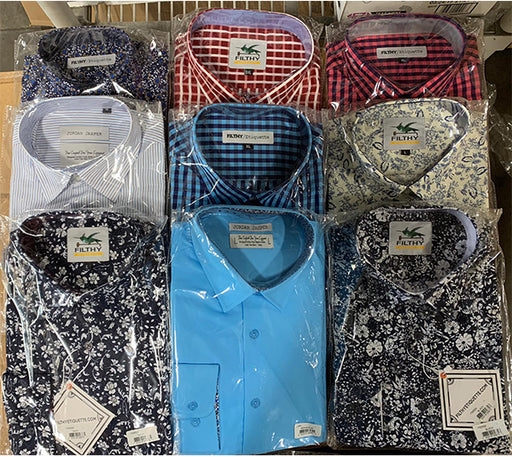 Assorted Mens Shirts ( 50Pcs Box )