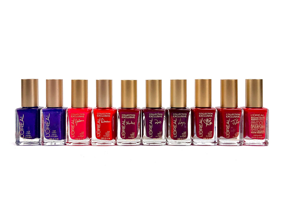 L'Oreal Nail Polish (Gold Cap) 50 piece count