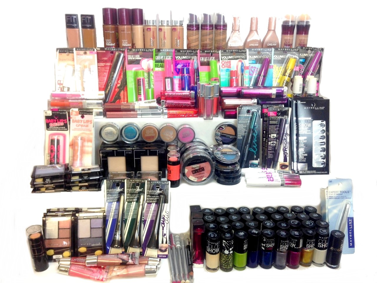 Wholesale Assorted Maybelline Cosmetics (250 Pcs Box)