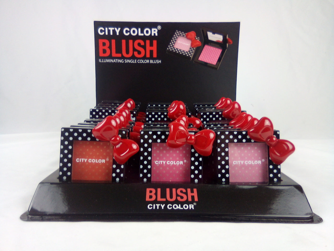 City Color Polka Dot Blush with Bow (4 Displays Per Box)