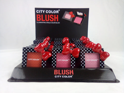 City Color Polka Dot Blush with Bow, 4 DISPLAYS