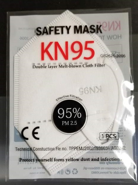 KN95 Masks Individually Sealed