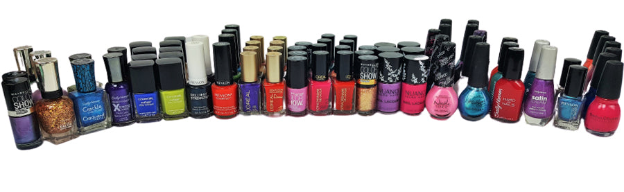 Assorted Nail Polish: Revlon, OPI, Sally Hansen, Covergirl, Rimmel, L'Oreal, Maybelline, Sinful & Nuance ( 3200 Pcs Pallet )