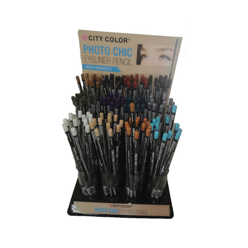 City Color Photo Chic Eyeliner Pencil, 144 pc/display, 2 display per case.