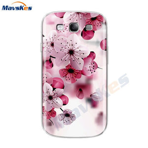 Back Cover Soft Funda For Samsung Galaxy S3 Flower Phone Case For Samsung Galaxy S3 Duos Neo S 3 I9300 Soft TPU Silicone Shell