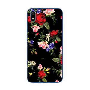 Cute Art Case Coque For Xiaomi Redmi 7 7a Novelty Flowers Silicone Phone Case Cover For Xiaomi Redmi 7a Redmi 7 Back Fundas