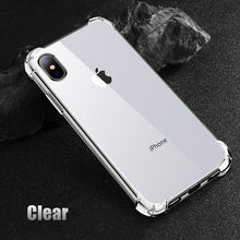 Load image into Gallery viewer, USLION Shockproof Armor Clear Case For iPhone XS Max XR X 8 7 6 6s Plus 5 5s SE Transparent Shockproof Phone Cases Airbag Cover