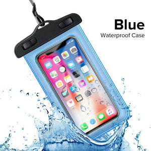 current Waterproof Case For iPhone X 8 7 6s Plus Cover Pouch Bag Case For Huawei Redmi Coque Water proof Phone Case For Android