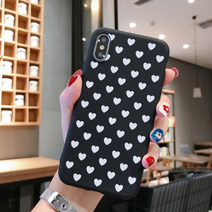 YOUVEI Phone Case For iPhone 5 6 6S 7 7Plus 8 8Plus X XR XS Max Cute Moon Line Patterned Silicone Cover Coque For iPhone 7 Case