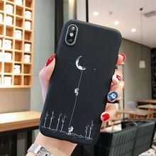 Load image into Gallery viewer, YOUVEI Phone Case For iPhone 5 6 6S 7 7Plus 8 8Plus X XR XS Max Cute Moon Line Patterned Silicone Cover Coque For iPhone 7 Case