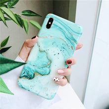 Load image into Gallery viewer, Vintage Marble case for iphone XS Max XR XS 11 case Granite painted tpu case For Iphone 8 7 Plus X 6 6S Protective Fundas Capa