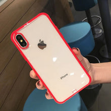 Load image into Gallery viewer, Shockproof Bumper Transparent Silicone Phone Case For iPhone 11 2019 X XS XR XS Max 8 7 6 6S Plus Clear protection Back Cover