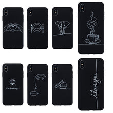 Load image into Gallery viewer, Abstract Silicone Case For Coque iphone XS Max X XR Case Soft TPU Phone Cases For iphone 7 8 6S 6 Plus 11 11 Pro Max Case Cover