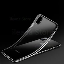 Load image into Gallery viewer, TPU Luxury Case For iPhone X XS 11 Pro Max XR 8 7 6 6s Plus Ultra Thin Slim Soft TPU Silicone Phone Cover Cases
