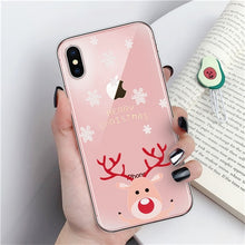 Load image into Gallery viewer, Merry Christmas Phone Case For iPhone 11 X XR XS Max 8 7 6 6s Plus Cartoon Santa Claus elk Soft TPU Silicon Cover Couples Cases