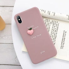 Load image into Gallery viewer, USLION 3D Candy Color Avocado Letter Soft Phone Case For iPhone 11 Pro XS MAX XR X Silicone Case For iPhone 7 6 6S 8 Plus Cover