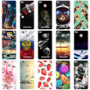 Phone Cases For Xiaomi Redmi 3 Pro 3s Redmi 3s Cover 3D Silicon Phone Back Cover for Xiaomi Redmi 3 Pro Case Redmi 3 S Pro Case
