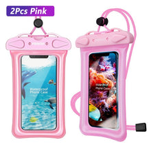 Load image into Gallery viewer, FONKEN Waterproof Case for Phone Underwater Phone Case IPX8 Dry Bag Airbag float Storage Pouch Touch Android Cell Phone Covers