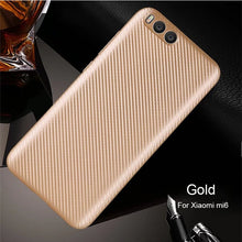 Load image into Gallery viewer, For Xiaomi Mi6 Case Carbon Fiber Pattern Soft High Quality Ultrathin Luxury Back Cover Xiaomi Mi 6 Xiomi Coque Anti-knock