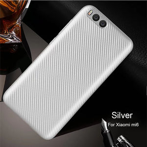 For Xiaomi Mi6 Case Carbon Fiber Pattern Soft High Quality Ultrathin Luxury Back Cover Xiaomi Mi 6 Xiomi Coque Anti-knock