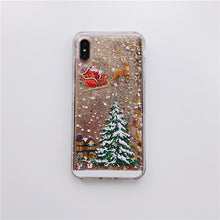 Load image into Gallery viewer, Glitter Christmas tree Case for Samsung Galaxy S7 Edge S8 S9 Plus S10 Lite S10E Note 8 9 10 pro Silicone Diamond quicksand Case