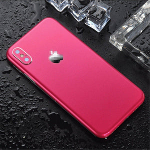 Ice Surface For iPhone 7 8 X XS XR Back Film Thin Screen Protector Protective Stickers Cover Color Paster Rear Decorative Film