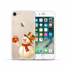 Load image into Gallery viewer, Case for Iphone 6s Soft Clear TPU Back Cover for 5 5S 6 sPlus X XS Max XR Christmas Phone Case for Iphone 7 8 Plus  11 Pro max