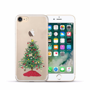 Case for Iphone 6s Soft Clear TPU Back Cover for 5 5S 6 sPlus X XS Max XR Christmas Phone Case for Iphone 7 8 Plus  11 Pro max