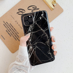 Vintage Marble case for iphone XS Max XR XS 11 case Granite painted tpu case For Iphone 8 7 Plus X 6 6S Protective Fundas Capa
