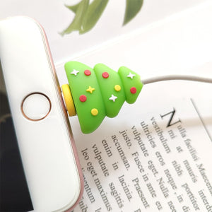 Universal Cable Bite Protector For iPhone XR XS Max For Android Holders Accessory Christmas Cable Winder Protection data line