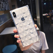 Load image into Gallery viewer, N1986N For iPhone 6 6s 7 8 Plus X XR XS Max Phone Case Fashion Diamond Texture Square Design Clear Soft TPU Fundas For iPhone X