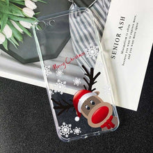 Load image into Gallery viewer, Christmas New Year gift elk snow phone Case For Huawei P20 pro mate 20 10 lite honor 10 P8 P9 P10 P30 P20 Lite TPU Silicone Case