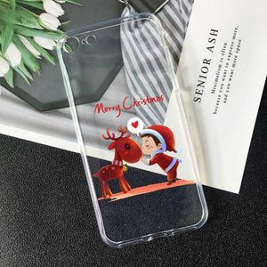 Christmas New Year gift elk snow phone Case For Huawei P20 pro mate 20 10 lite honor 10 P8 P9 P10 P30 P20 Lite TPU Silicone Case